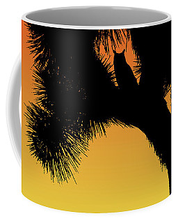 Great Horned Owl In A Joshua Tree Silhouette At Sunset Coffee Mug