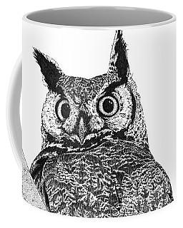 Great Horned Owl In A Tamarisk Coffee Mug