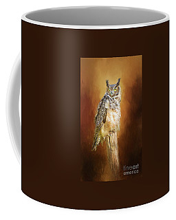 Great Horned Owl In Autumn Coffee Mug
