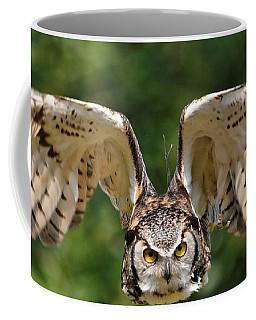 Great Horned Owl - In Flight Coffee Mug