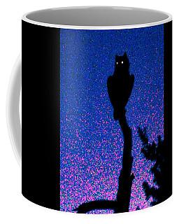 Great Horned Owl In The Desert Coffee Mug