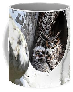 Great Horned Owl Nest Coffee Mug