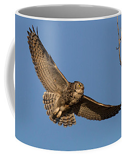 Great Horned Owl Returns To The Nest Coffee Mug
