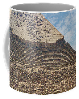 Coffee Mug featuring the photograph Great Pyramid Of Giza by Silvia Bruno
