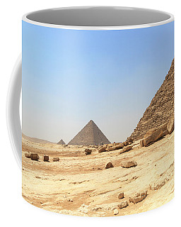 Coffee Mug featuring the photograph Great Pyramids Of Gizah by Silvia Bruno