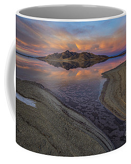 Coffee Mug featuring the photograph Great Salt Lake Sunset by Spencer Baugh