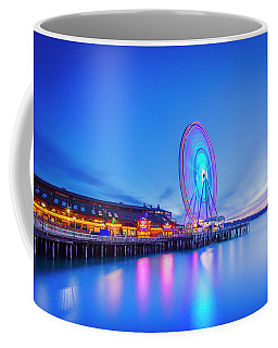Coffee Mug featuring the photograph Great Seattl Wheel by Evgeny Vasenev