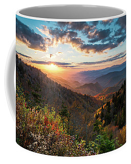 Great Smoky Mountains National Park Nc Scenic Autumn Sunset Landscape Coffee Mug