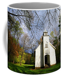 Great Smoky Mountains Spring Storms Over Palmer Chapel  Coffee Mug