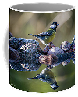 Great Tit On The Stone Coffee Mug