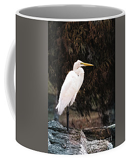 Coffee Mug featuring the photograph Great White Autumn Waterfall by Ella Kaye Dickey