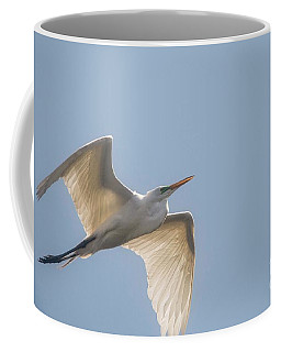 Coffee Mug featuring the photograph Great White Egret - 2 by David Bearden