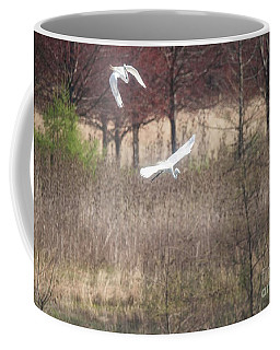 Coffee Mug featuring the photograph Great White Egret - 3 by David Bearden
