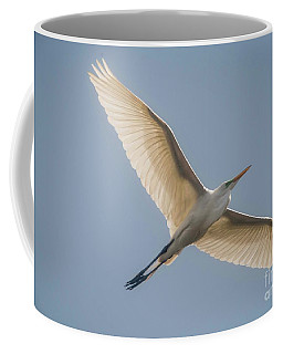 Coffee Mug featuring the photograph Great White Egret by David Bearden