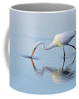 Great White Egret - The Catch Coffee Mug