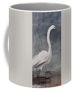 Great White Heron Original Art Coffee Mug