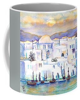 Greece- The White Houses Of Mykonos Coffee Mug