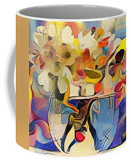 Greek Flowers Coffee Mug