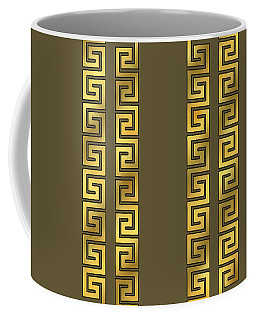 Greek Gold Pattern - Chuck Staley Coffee Mug
