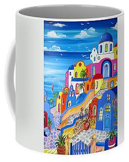 Greek Islands Fantasy Village Santorini Coffee Mug