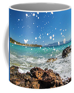 Greek Surf Spray Coffee Mug