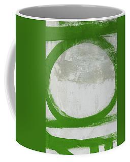 Green Abstract Circle 2 Vertical- Art By Linda Woods Coffee Mug