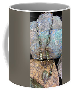Green Agate And Brass #s55 Coffee Mug