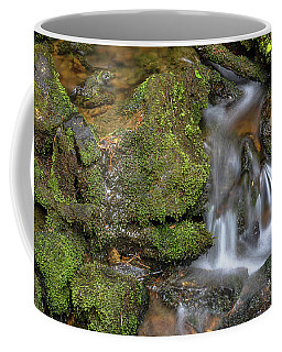 Coffee Mug featuring the photograph Green And Mossy Water Flow by James BO Insogna