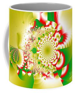 Green And Yellow Collide Coffee Mug