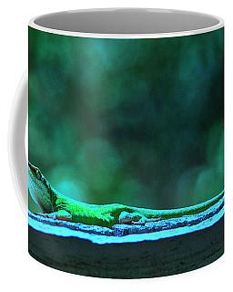 Coffee Mug featuring the digital art Green Anole Lizard by Randy Bayne