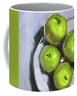 Green Apple Plate Coffee Mug