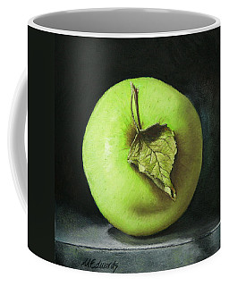 Green Apple With Leaf Coffee Mug by Marna Edwards Flavell