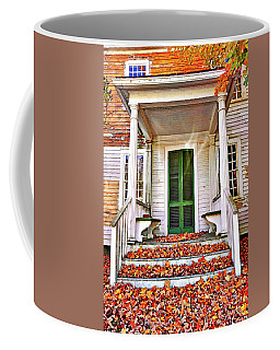Green Autumn Door Coffee Mug