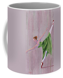 Coffee Mug featuring the painting Green Ballerina by Jamie Frier