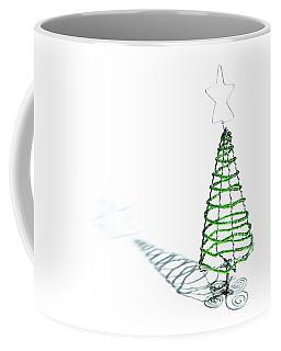 Green Bead Christmas Tree II Coffee Mug