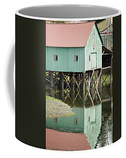 Green Boat House Petersburg Coffee Mug
