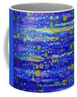 Green Bubbles In A Purple Sea Coffee Mug