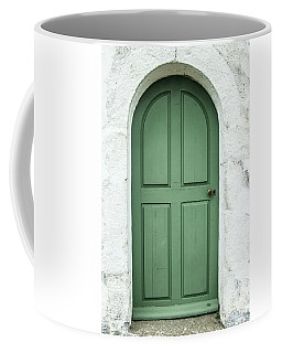 Green Church Door Iv Coffee Mug by Helen Northcott