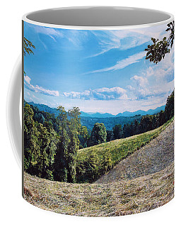 Coffee Mug featuring the painting Green Country by Joshua Martin