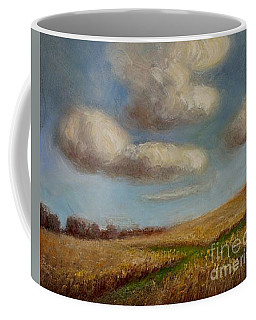 Green Cross Coffee Mug by Randy Burns