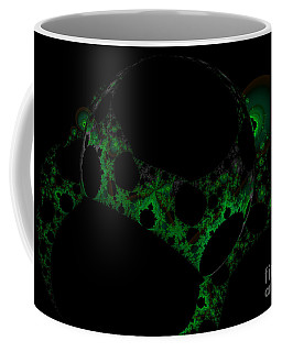 Green Darkness Galaxy Fractal  Coffee Mug