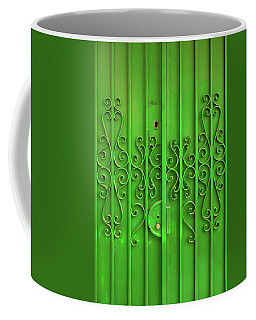 Coffee Mug featuring the photograph Green Door by Carlos Caetano