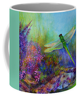 Green Dragonfly Coffee Mug
