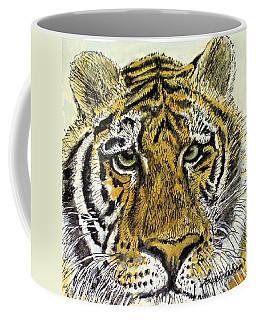 Green Eyed Tiger Coffee Mug
