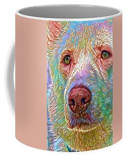 Coffee Mug featuring the digital art Green Eyes by Geri Glavis