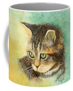Coffee Mug featuring the painting Green Eyes by Terry Webb Harshman