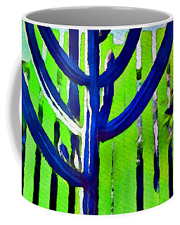 Green Fence Coffee Mug