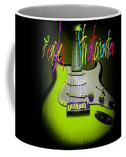 Green Stratocaster Guitar Coffee Mug