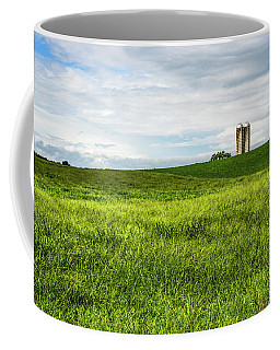 Green Field And Silos Coffee Mug