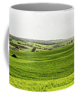 Green Fields. Coffee Mug by Arik Baltinester